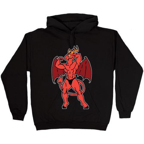 Buff cryptids: Jersey Devil Hooded Sweatshirt
