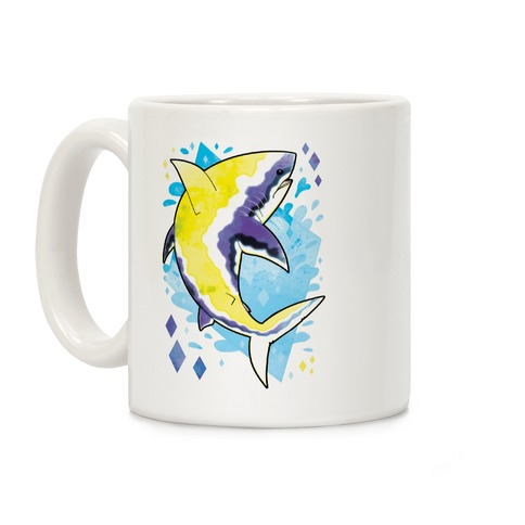 Pride Sharks: Non-binary Coffee Mug