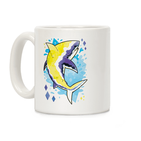 Pride Sharks: Non-binary Coffee Mug