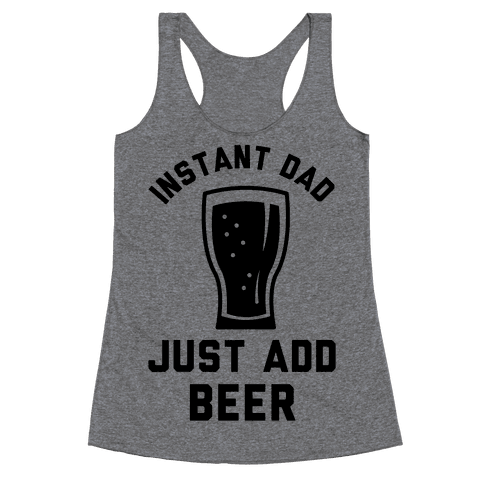 Instant Dad Racerback Tank Top