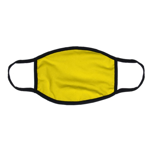 Bright Yellow Flat Face Mask