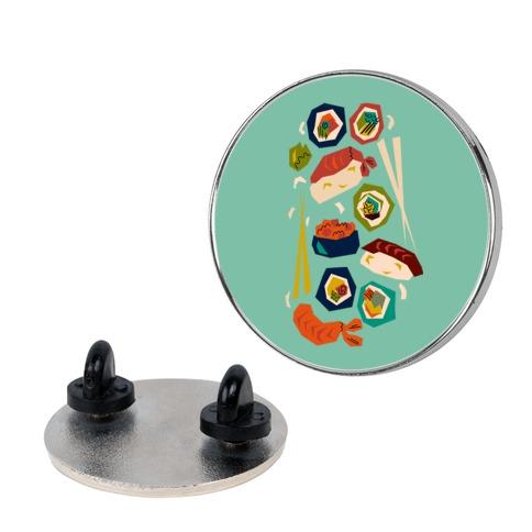 Mid-Century Modern Sushi Pattern Pin