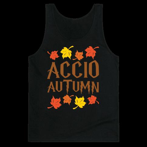 Accio Autumn Parody White Print Tank Top