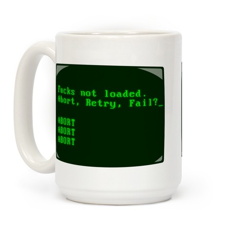MS-DOS F***s Not Loaded Coffee Mug