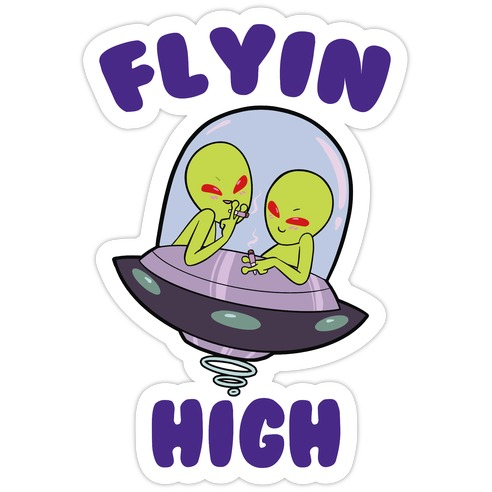 Flyin' High Die Cut Sticker