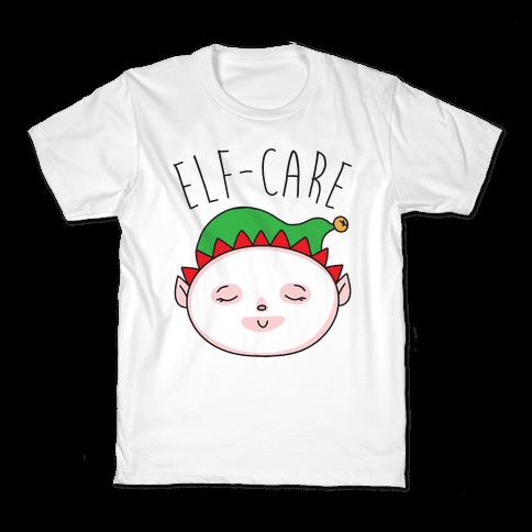 Elf-Care Elf Self-Care Christmas Parody Kids T-Shirt