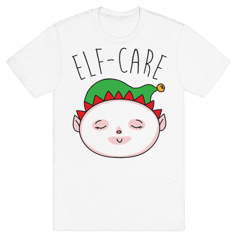 Elf-Care Elf Self-Care Christmas Parody Mens T-Shirt