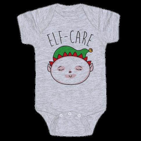 Elf-Care Elf Self-Care Christmas Parody Baby Onesy