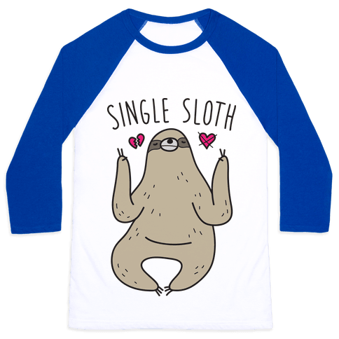 Single Sloth Baseball Tee