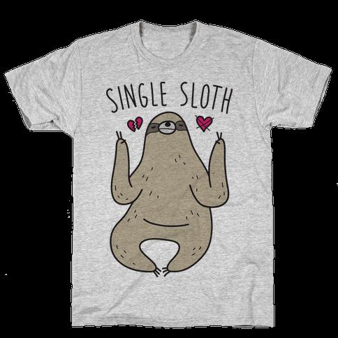 Single Sloth Mens T-Shirt