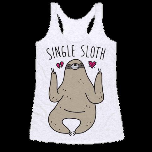 Single Sloth Racerback Tank Top