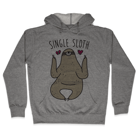 Single Sloth Hooded Sweatshirt