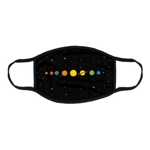 Retro Planets Flat Face Mask