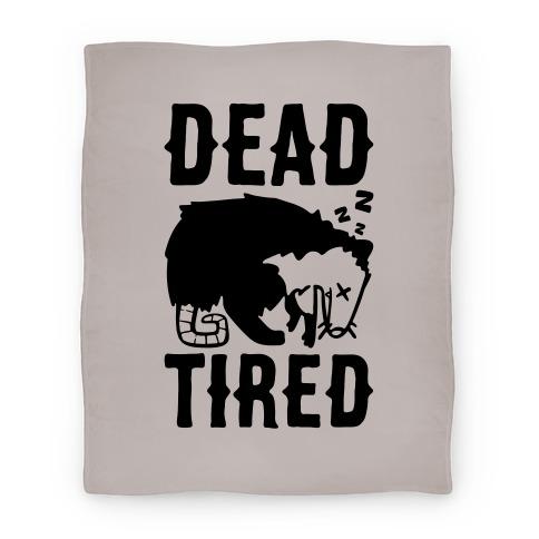 Dead Tired Possum Parody Blanket