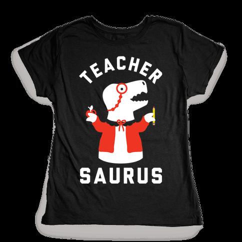 Teacher Saurus cardigan Womens T-Shirt
