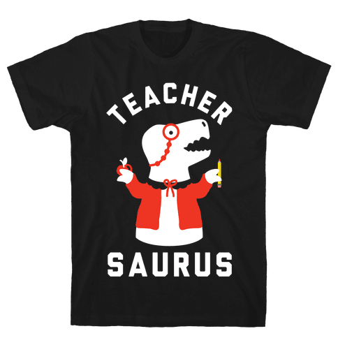 Teacher Saurus cardigan Mens T-Shirt