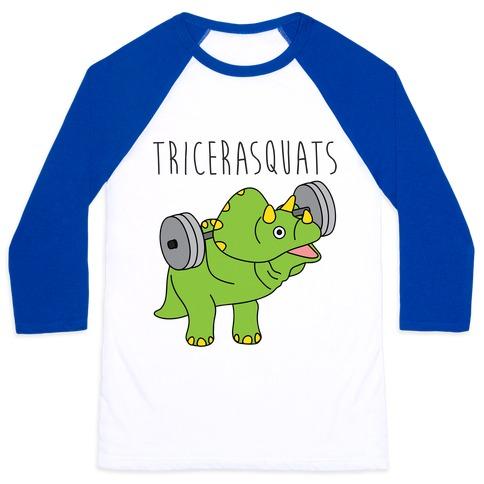 TriceraSQUATS Baseball Tee