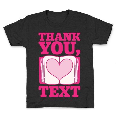Thank You Text Book Parody White Print Kids T-Shirt