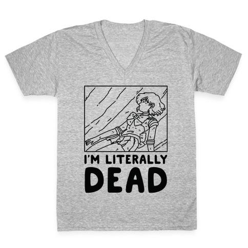 I'm Literally Dead Sailor Mercury V-Neck Tee Shirt