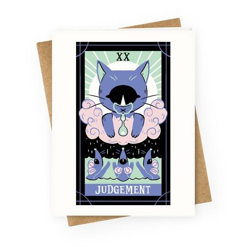 Creepy Cute Tarots: Judgement Greeting Card