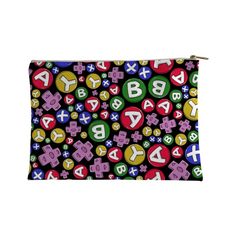 Video Game Controller Buttons Pattern Accessory Bag