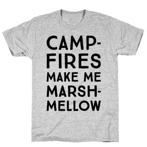 Campfires Make Me Marshmellow Mens T-Shirt