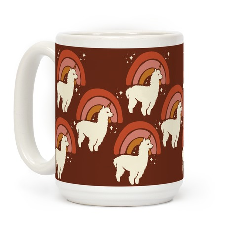 Llamacorn Pattern Coffee Mug