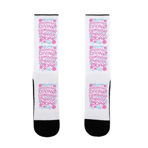 Radiating Divine Feminine Energy Today Sock