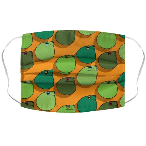 Frog Ball Pattern Accordion Face Mask