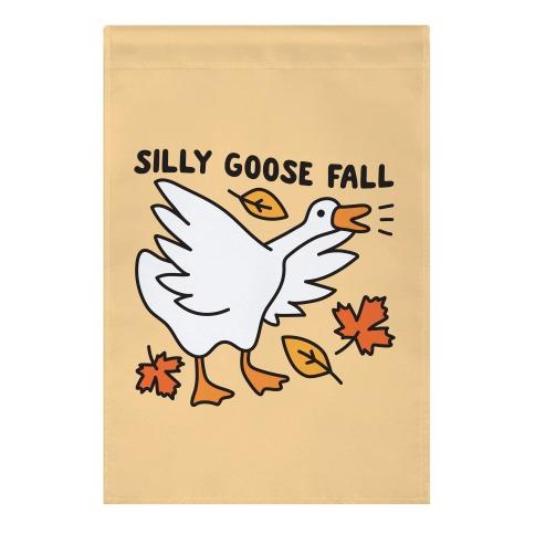 Silly Goose Fall Garden Flag