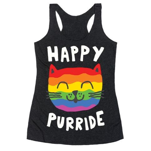 Happy Purride Racerback Tank Top
