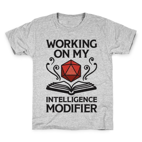 Working On My Intelligence Modifier Kids T-Shirt