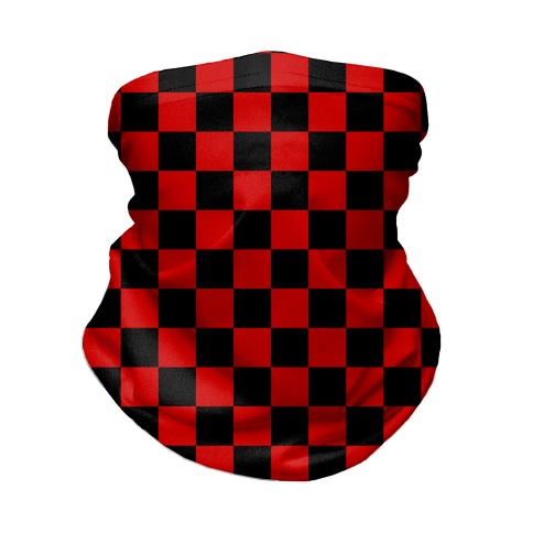 Checkered Black and Red Neck Gaiter