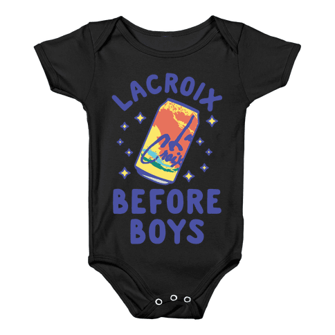 LaCroix Before Boys Baby Onesy