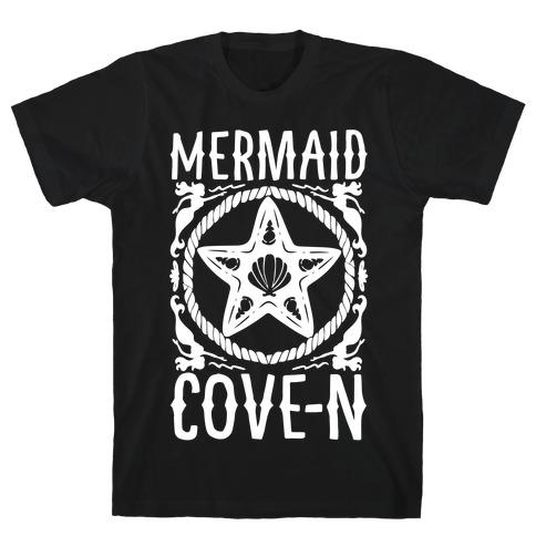 Mermaid Cove-n White Print T-Shirt