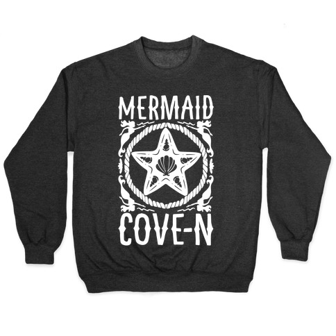Mermaid Cove-n White Print Pullover