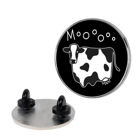 Moo Ghost Cow Pin