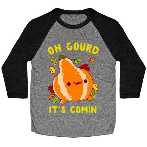 Oh Gourd It's Comin' Baseball Tee