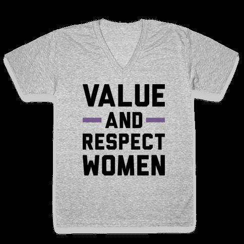 Value And Respect Women V-Neck Tee Shirt