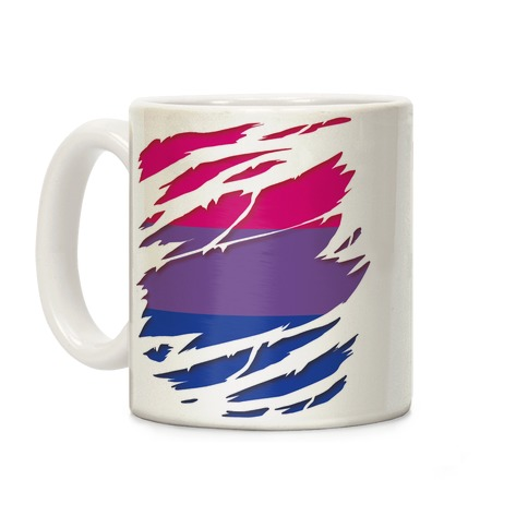 Ripped Shirt: Bi Pride Coffee Mug