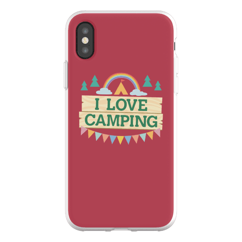 I Love Camping (Pocket Camp Parody) Phone Flexi-Case