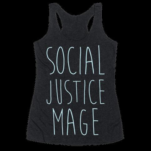 Social Justice Mage Racerback Tank Top