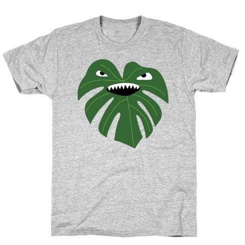 Monstera Leaf Monster T-Shirt