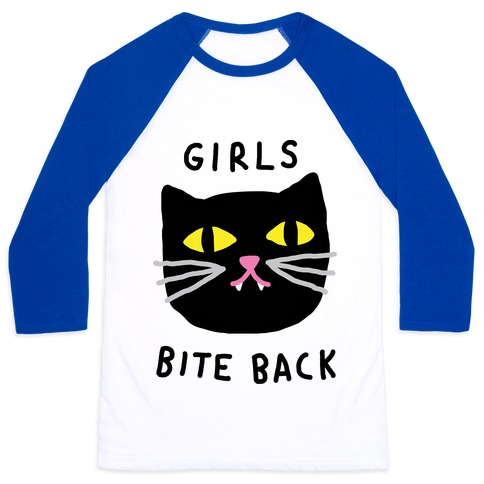 Girls Bite Back Baseball Tee