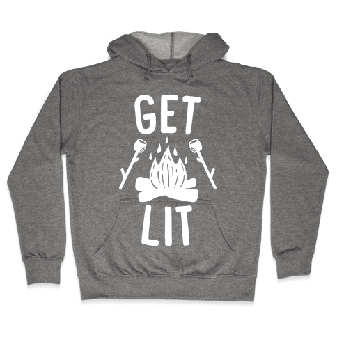 Get Lit - Campfire (White) Hooded Sweatshirt