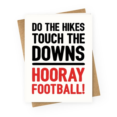 Hooray Football Greeting Card