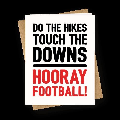 Hooray Football Greeting Card