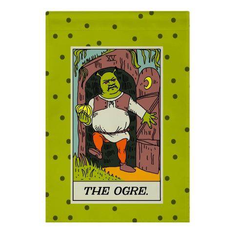 The Ogre Tarot Card Garden Flag