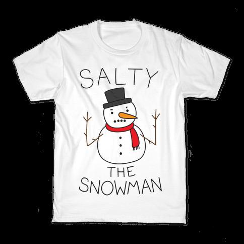 Salty The Snowman  Kids T-Shirt