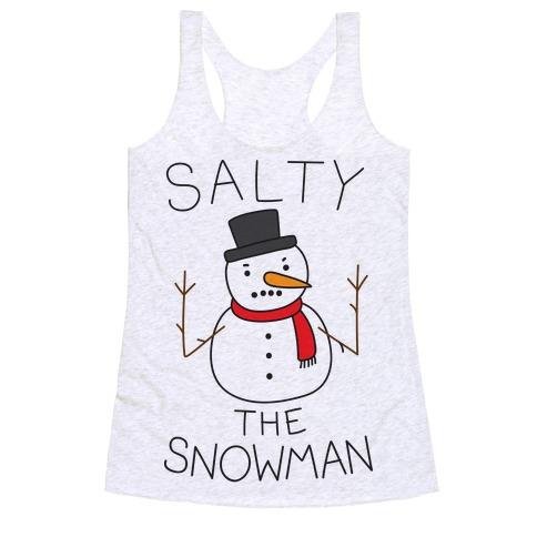 Salty The Snowman Racerback Tank Top